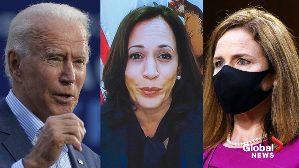 Click to watch video 'Illegitimate Committee Process': Biden and Harris Target Trump's Supreme Court Candidate Amy Coney Barrett'