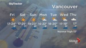 B.C. evening weather forecast: April 15 (01:53)