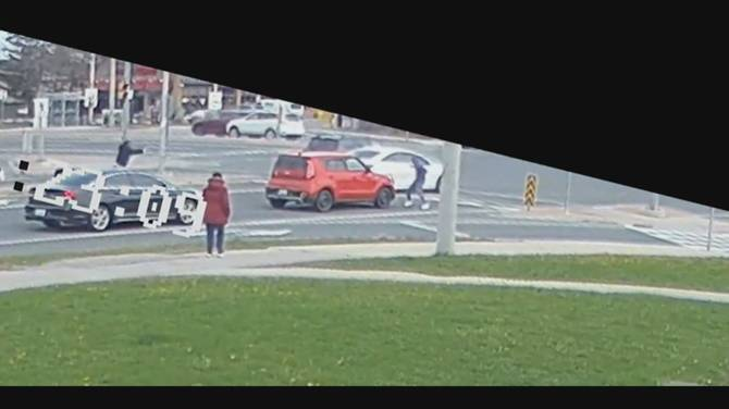Click to play video: Police release video of daylight shooting in Ajax