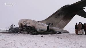 Newly-released video shows crash site of U.S. military plane in Afghanistan
