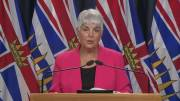 Play video: B.C. Finance Minister Carole James announces first-quarter numbers