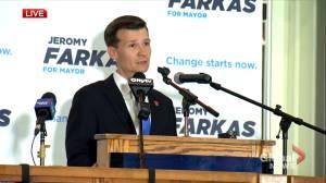 Jeromy Farkas congratulates Calgary mayor-elect Jyoti Gondek (02:30)