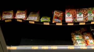 Alberta grocery shelves lacking tofu amid food shortages (01:31)