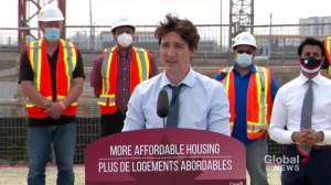 Trudeau announces construction of affordable rental units in Brampton, Ont. (00:51)
