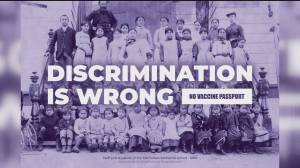 B.C. PPC candidate slammed over flyer comparing vaccine passports to residential schools (01:03)