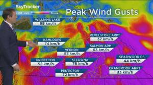 Powerful storm moving across B.C. Wednesday (02:49)