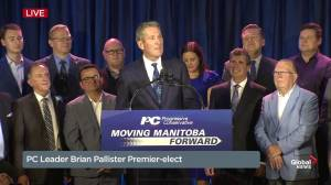 Manitoba Election: PCs' Pallister says residents chose 'forward' with re-election