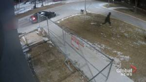 Police release security video appearing to show suspect in fatal Toronto shooting (00:33)