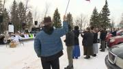Play video: Steinbach mayor pushes back against anti-mask rally