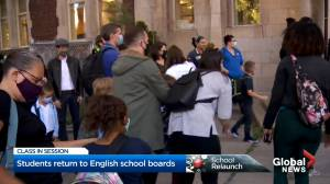 English Quebecers head back to school amid COVID-19 (02:04)