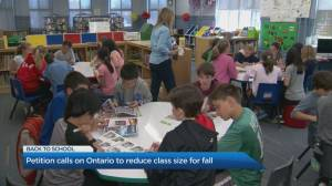 Petition calls on Ontario to reduce class sizes
