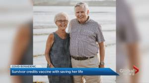 Vaccinated Ontario senior credits shot with saving her life after contracting COVID-19 (01:57)