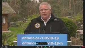 Ford calls for mandatory quarantine for U.S. border travellers, tighter air measures (01:23)