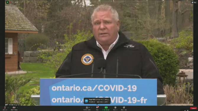 Click to play video: Ford calls for mandatory quarantine for U.S. border travellers, tighter air measures