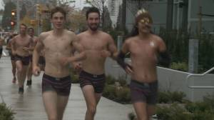 Hundreds strip down for annual Movember Undie Run