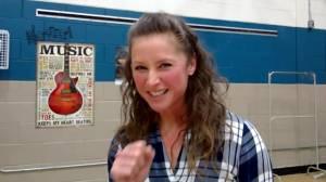 Secret flash mob shocks teachers (02:02)