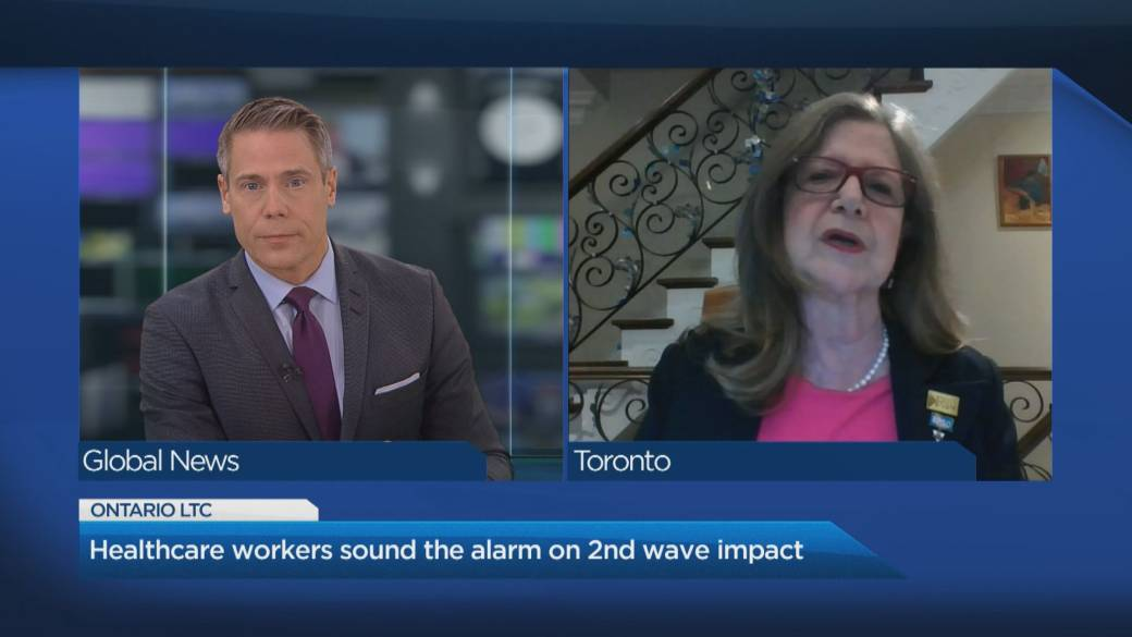 Click to play video 'Healthcare workers sound the alarm on 2nd wave impact in long-term care homes'