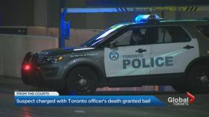 Suspect charged with Toronto police officer's murder granted bail (02:19)