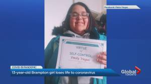 13-year-old Brampton girl dies after testing positive for COVID-19 (02:27)