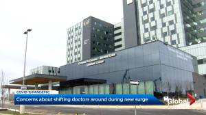Ontario hospitals forced to shuffle staffing as COVID-19 cases push them to capacity brink (02:38)