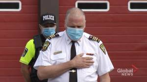 Peterborough Fire Services  holds moment of silence to honor 9/11 victims