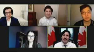 'It's become a movement:' Trudeau meets with volunteers behind Vaccine Hunters Canada (03:02)