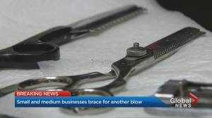 Coronavirus: Toronto, Peel businesses bemoan latest lockdowns (01:58)