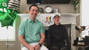 10-year-old Cambridge golfer wins Masters event (03:15)