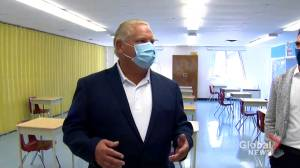 Coronavirus: Doug Ford tours Toronto school preparing for return-to-class during COVID-19 pandemic (02:19)