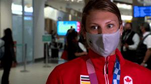 Legends of Olympics past help power Calgary's Gruchella-Wesierski to Tokyo gold (02:20)