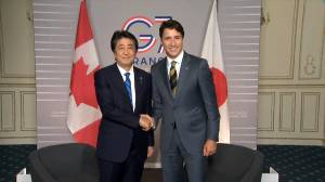 Trudeau meets with Japanese PM Shinzo Abe ahead of G7 summit