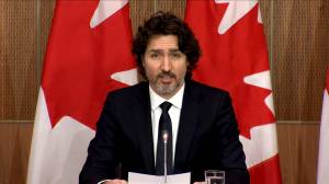 Coronavirus: Trudeau says Canada on track to receive 2 million Moderna COVID-19 vaccine doses before end of March (01:12)