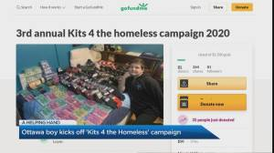 Third annual 'Kits 4 The Homeless' Campaign launches in Toronto (04:12)