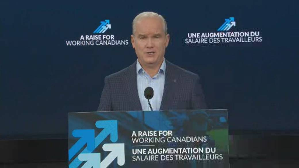 Click to play video: 'Canada election: Conservatives' O'Toole promises increase to wage benefit'