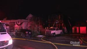 2 homes destroyed, others damaged by fire in Calgary's Riverbend area (02:24)
