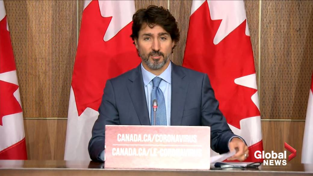 Click to play video 'Coronavirus: Trudeau says Canada has surpassed 200,000 COVID-19 cases'