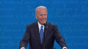 Presidential debate: Biden says Trump lied to Americans about coronavirus while his 'folks' warned Wall Street (01:16)