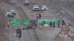 Hamilton rail blockade ends peacefully