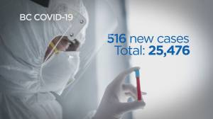B.C. health officials announce 516 new cases of COVID-19, 10 additional deaths (03:51)