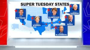 Democratic presidential hopefuls looking for big win in Super Tuesday