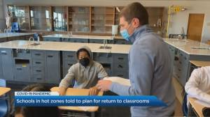 Coronavirus: Ontario schools in hot zones told to plan for return to classrooms (01:37)