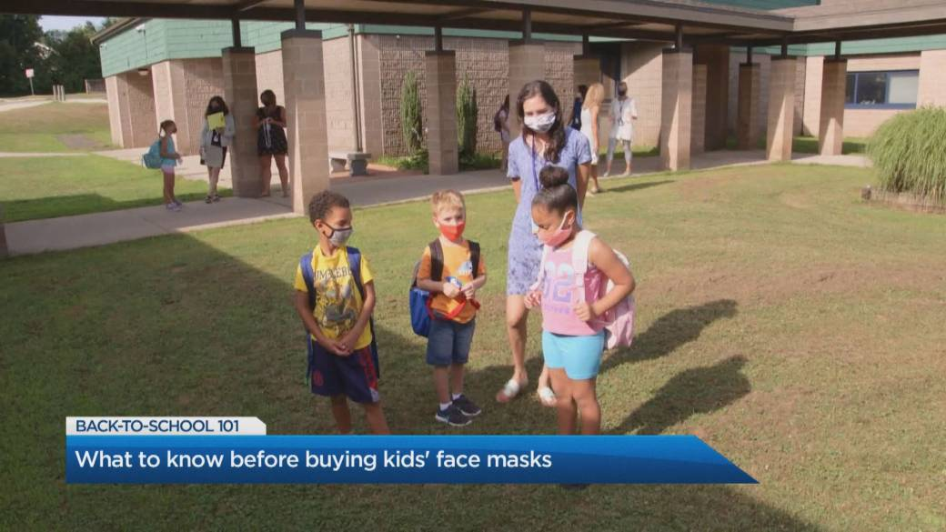 Click to play video 'What to know before buying kids' face masks'