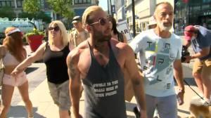 Winnipeg police arrest Ontario anti-masker at local rally (00:34)