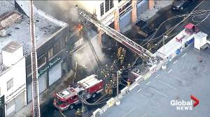 Multiple firefighters injured after explosion and fire in downtown Los Angeles