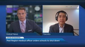 Peel Region medical officer of health talks about the decision to close schools and pivot to online learning (06:06)