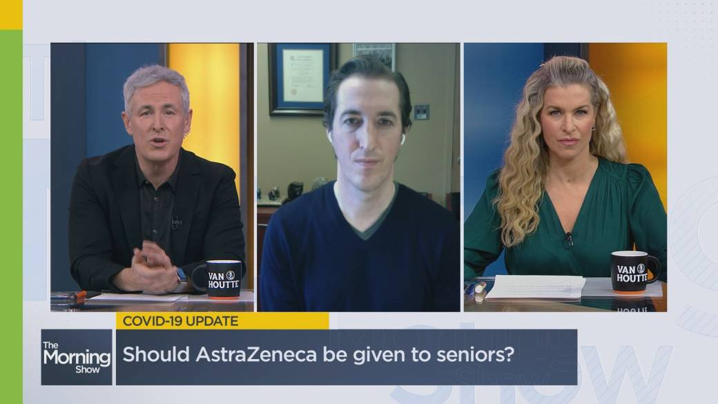 Click to play video 'Should AstraZeneca be given to seniors? Doctor answers top COVID-19 questions'