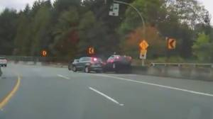 VPD release footage of distracted driver hitting stopped police car