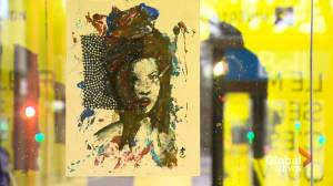 Local NDG artist uses bus shelters to showcase work (02:03)