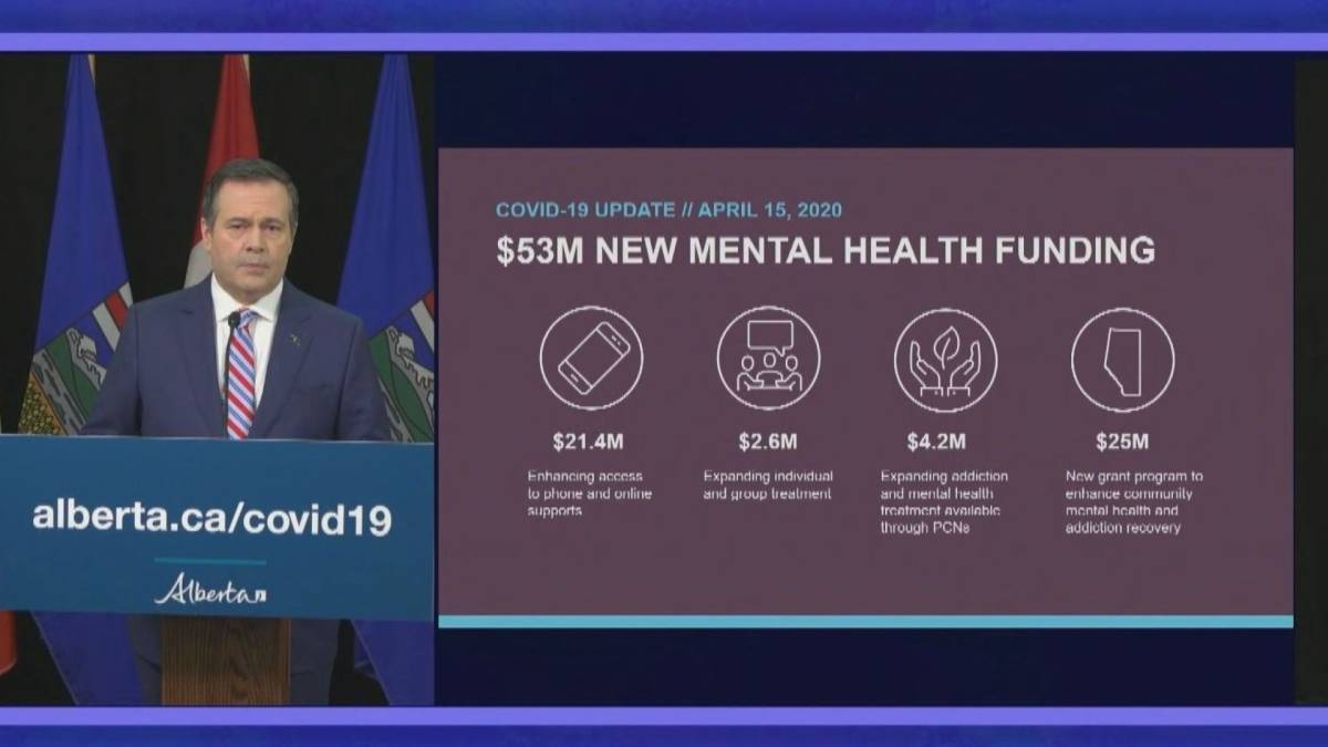 Click to play video 'Alberta announces $53M in funding for mental health'
