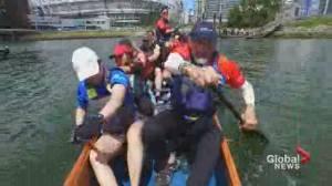 Dragon boat racing returns to Vancouver's False Creek (00:39)